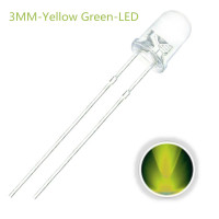 LED 3MM Jade (yellow-green) 10 pack