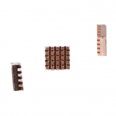 Set of 3 copper heatsinks for Raspberry