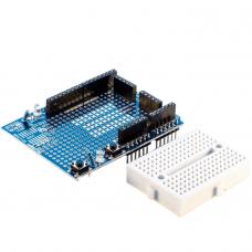 Prototyping Shield for Arduino Uno R3 including the Breadboard