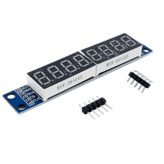 MAX7219 Led Module 8 Bit 7-Segment LED Display for Arduino and Raspberry Pi