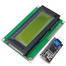 HD44780 2004 LCD Display Bundle 4x20 characters with I2C interface, Green