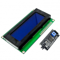 HD44780 2004 LCD Display Bundle 4x20 characters with I2C interface Blue