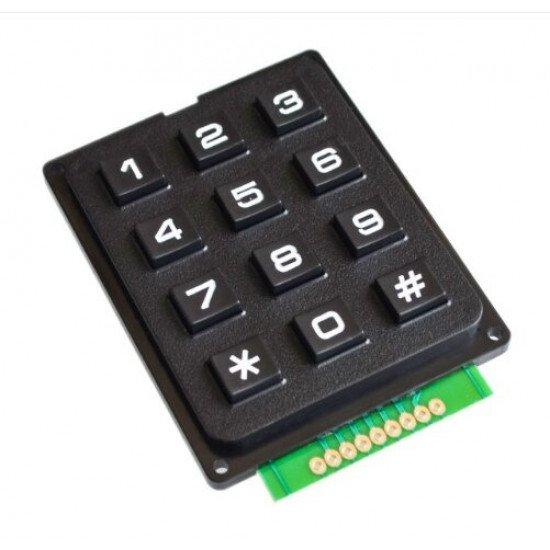 3x4 Matrix Numeric Keypad