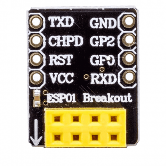 Breadboard adapter for ESP8266-01