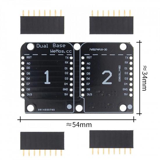 Dual Base Shield for D1 Mini