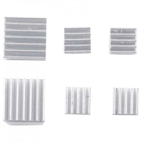 Aluminum  heatsink for Raspberry PI 4B 3pc with back glue