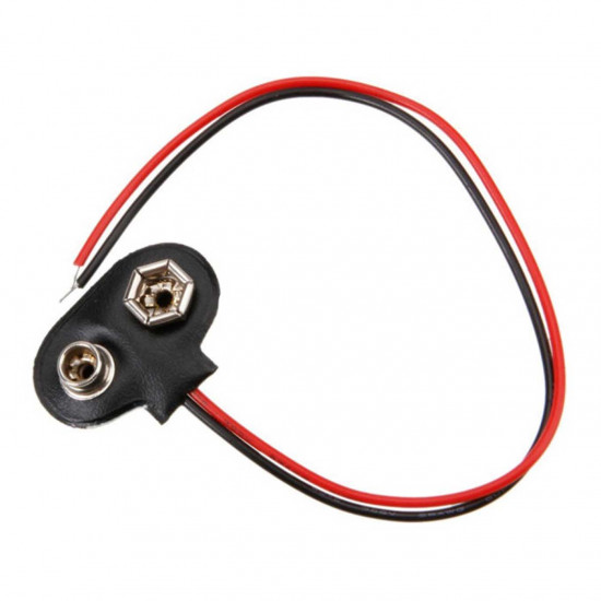 9V battery clip with 15cm cable