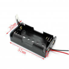 2xAA Battery Box with knife