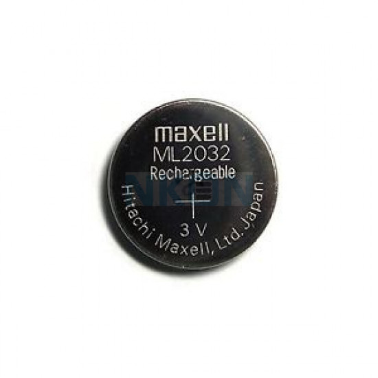 Maxell ML2032 rechargeable button cell battery