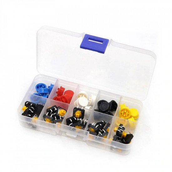 Tactile Push Button with Cap (box of 25pcs)