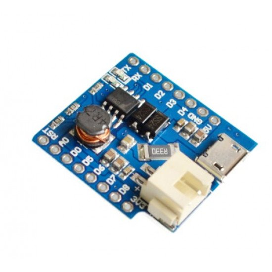 1A Battery Shield For WEMOS D1 mini single lithium battery