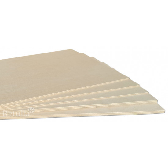 Birch plywood 3mm A3 for laser, pyrography, craft and model making