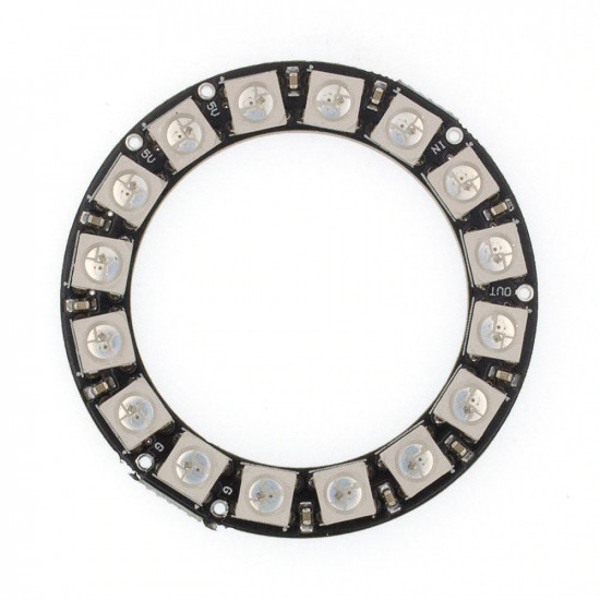 RGB LED Ring WS2812b 16RGB LEDs 5V 45mm