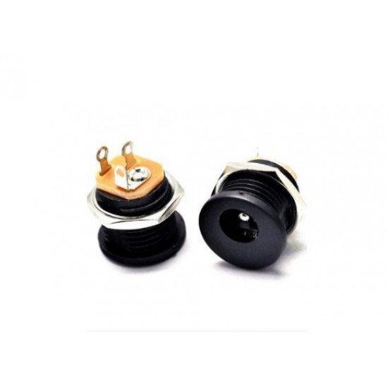 DC-022 5.5-2.1 Round hole screw nut DC power socket
