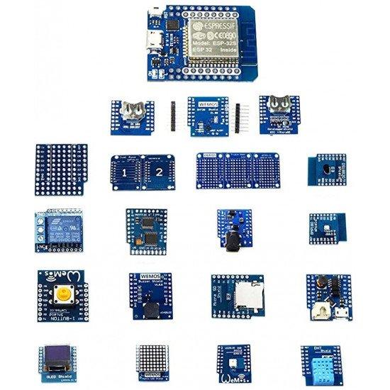 ESP32 Educational Kit: ESP32 D1 mini Board & 10 projects/sensor Kit