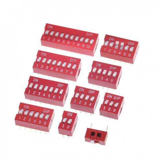 DIP Switch Red 1p