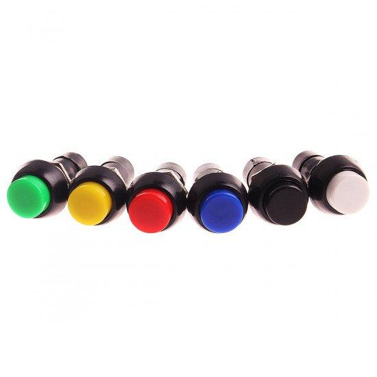PBS-11 Locking Button Switch 12MM Black